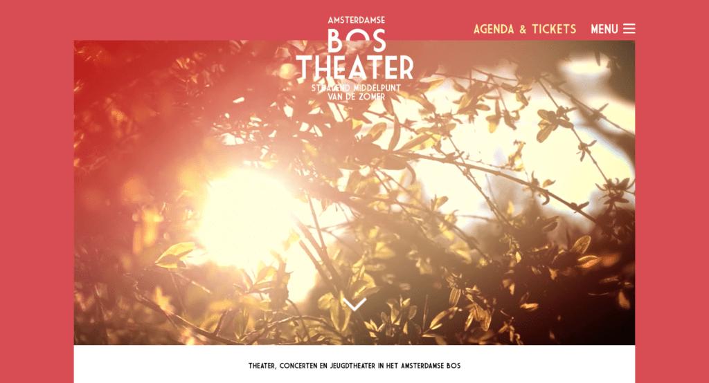 Amsterdamse Bos Theater -  Go2People Websites - Top 10 mooiste websites van Nederland anno 2020