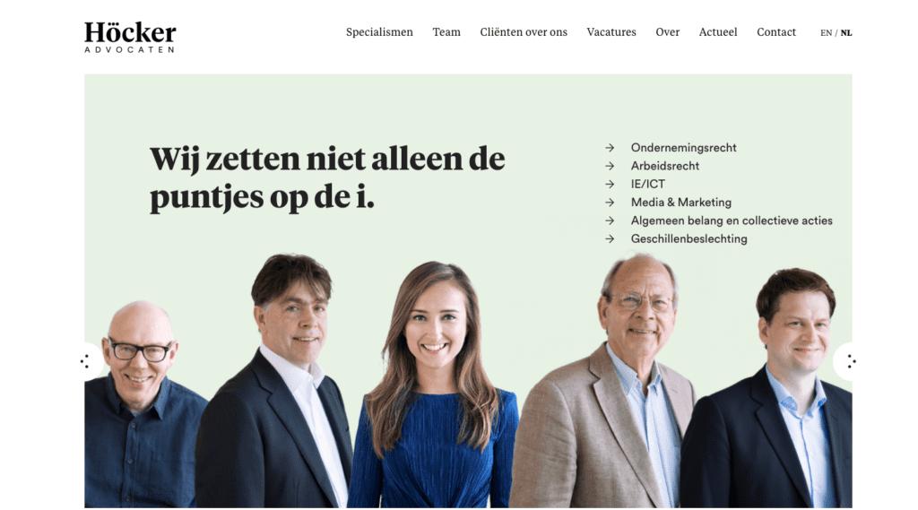 Hocker Advocaten - Go2People Websites - Top 10 mooiste websites van Nederland anno 2020