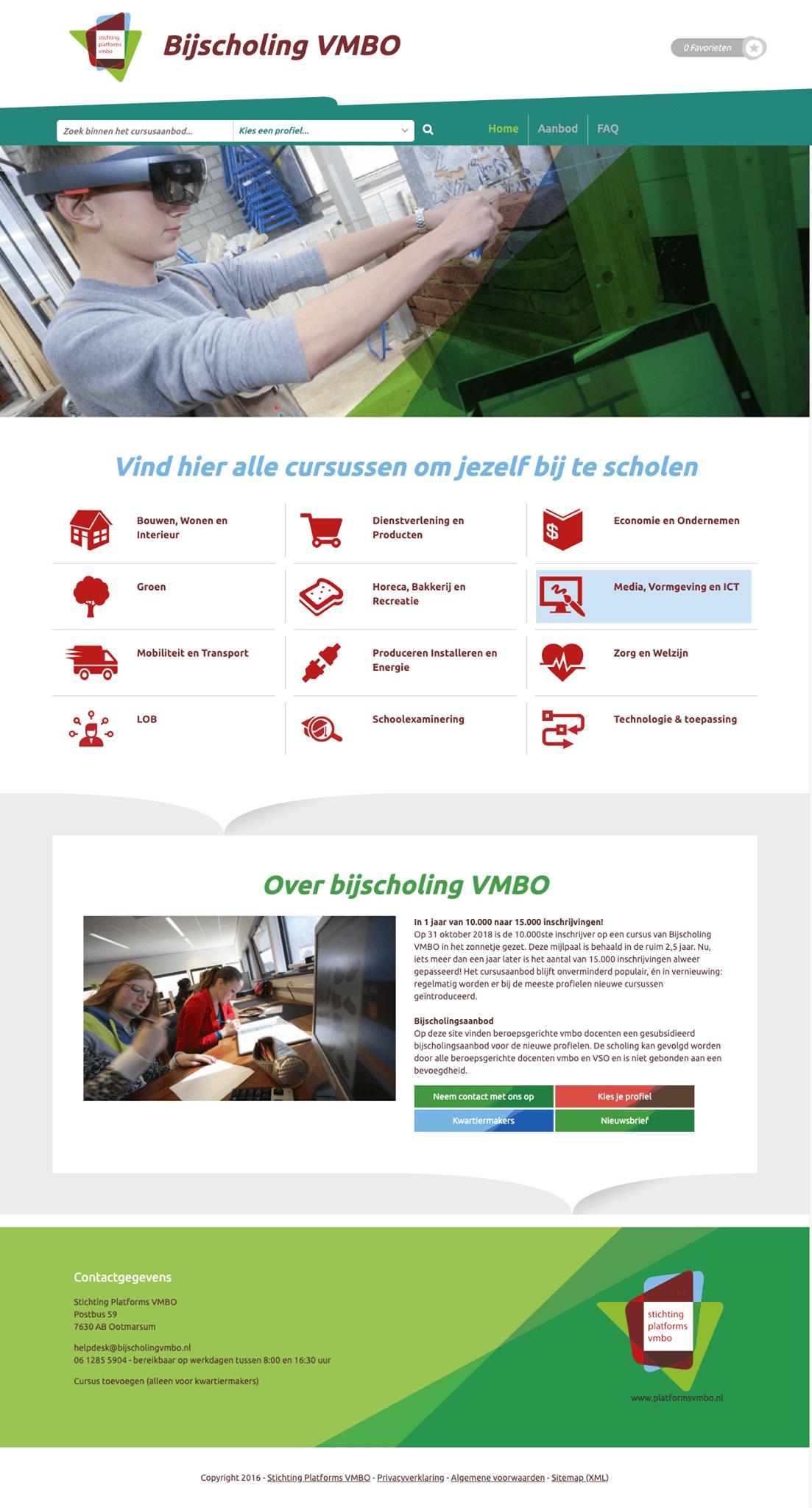 Bijscholing VMBO website