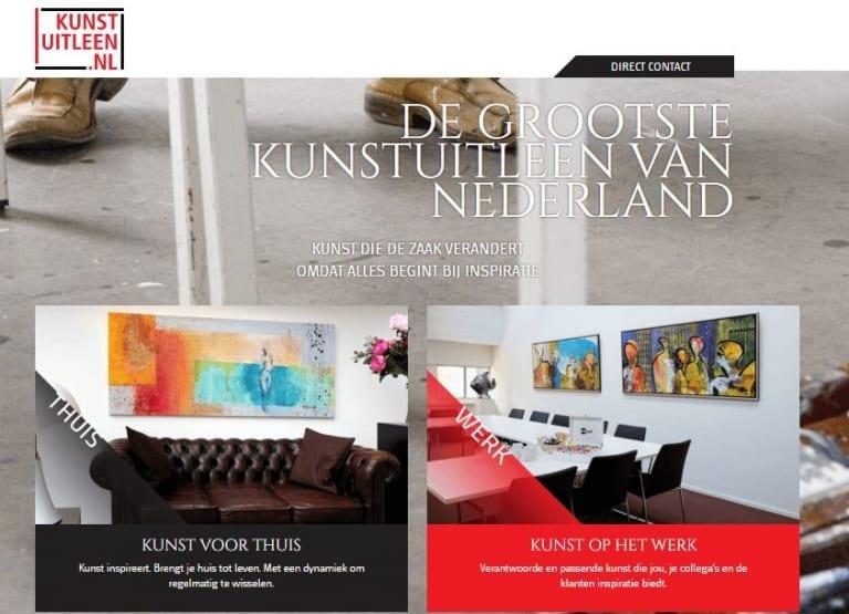 Kunstuitleen home
