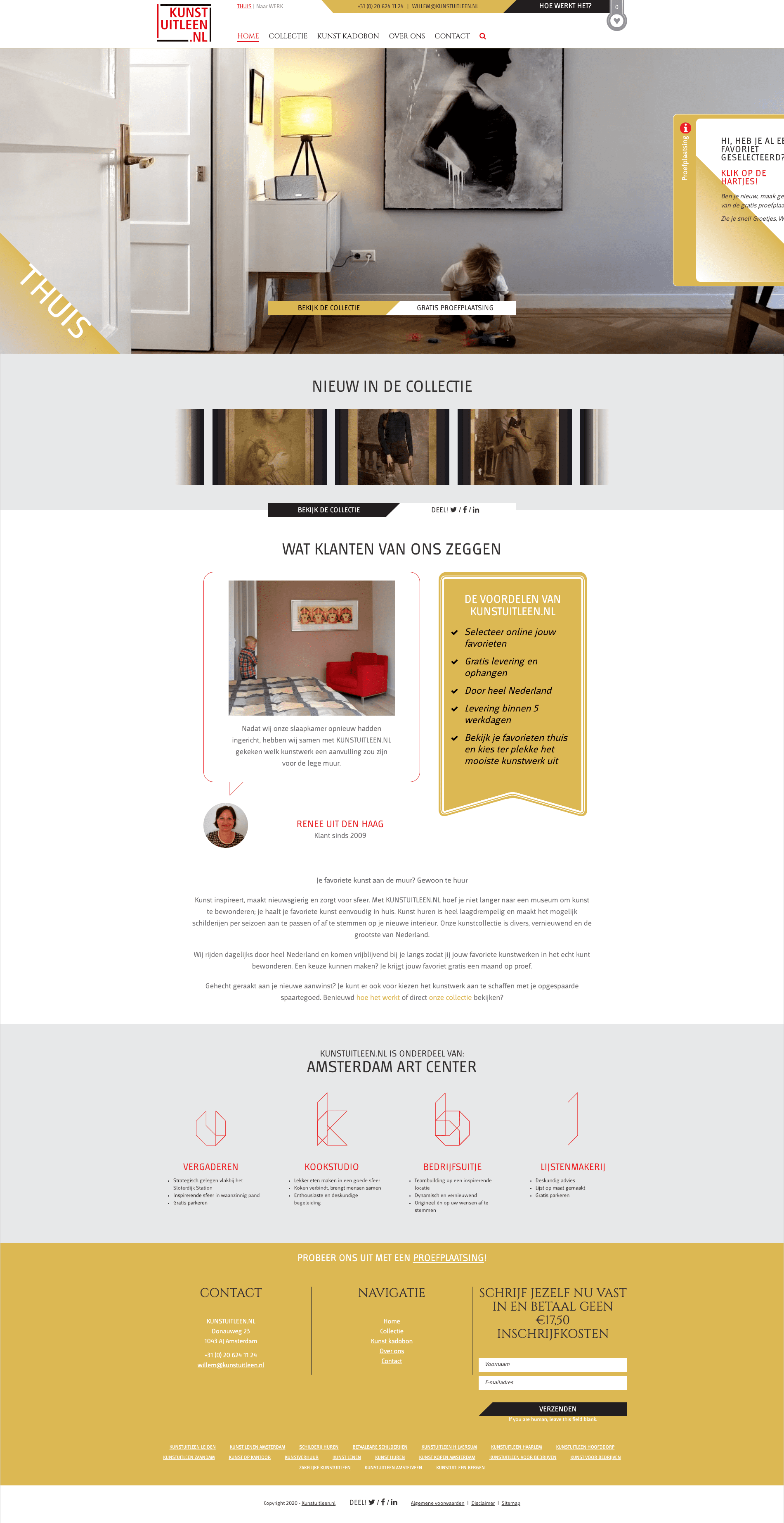 Website kunstuitleen.nl