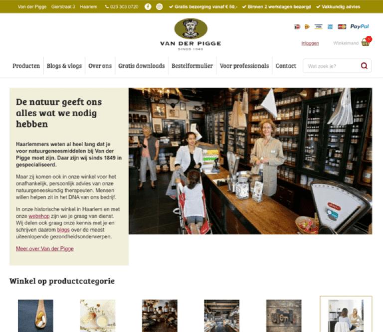 Van der Pigge webshop
