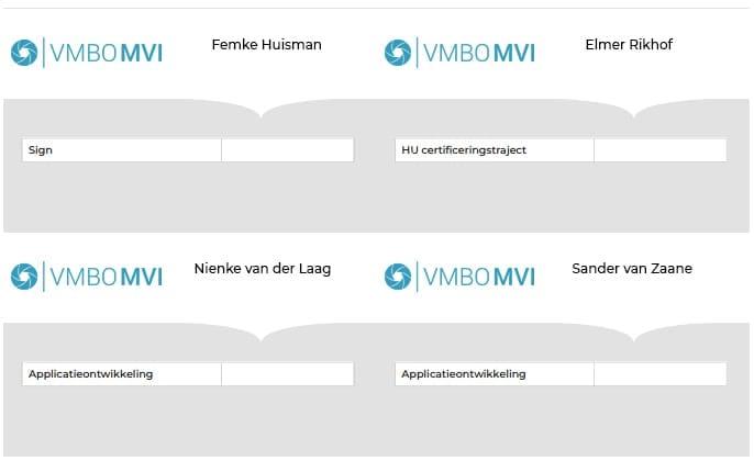 Badges Stichting Platforms VMBO