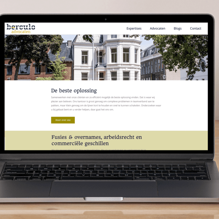 Berculo Advocaten Utrecht website mockup