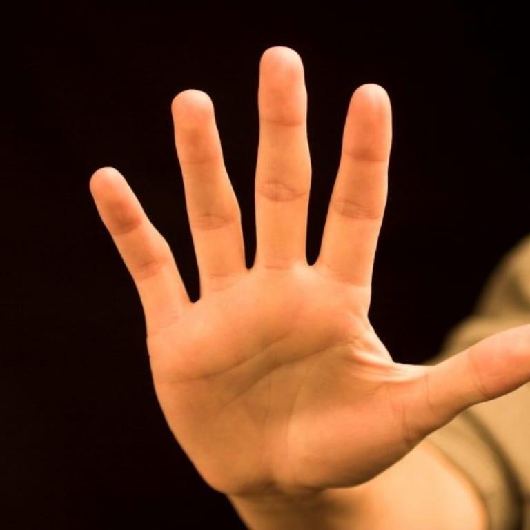 Opgestoken hand