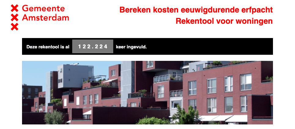 Rekentool Gemeente Amsterdam
