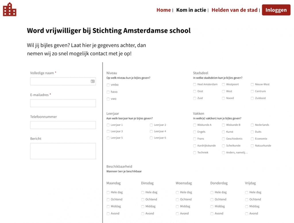 Inschrijven Stichting Amsterdamse School