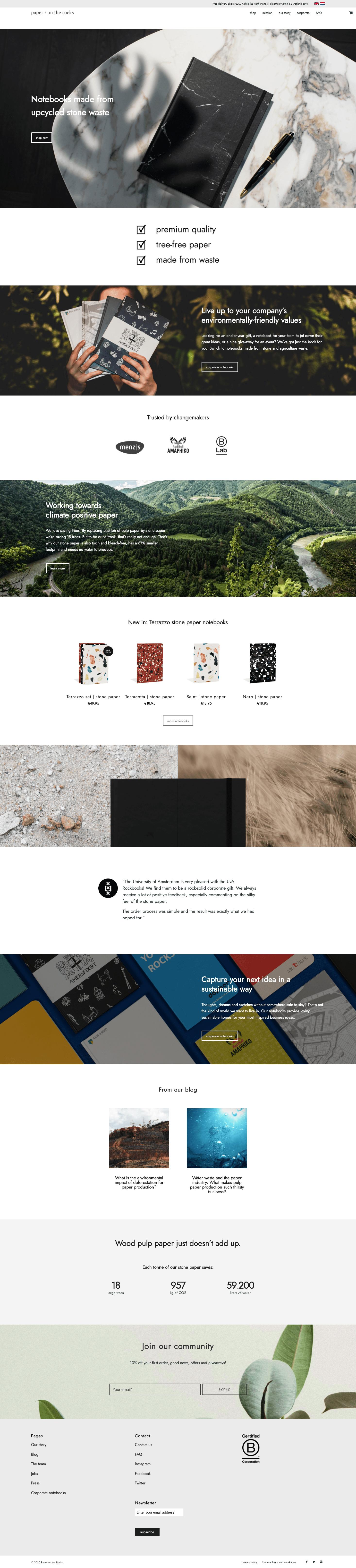Paper on the Rocks | Go2People Websites