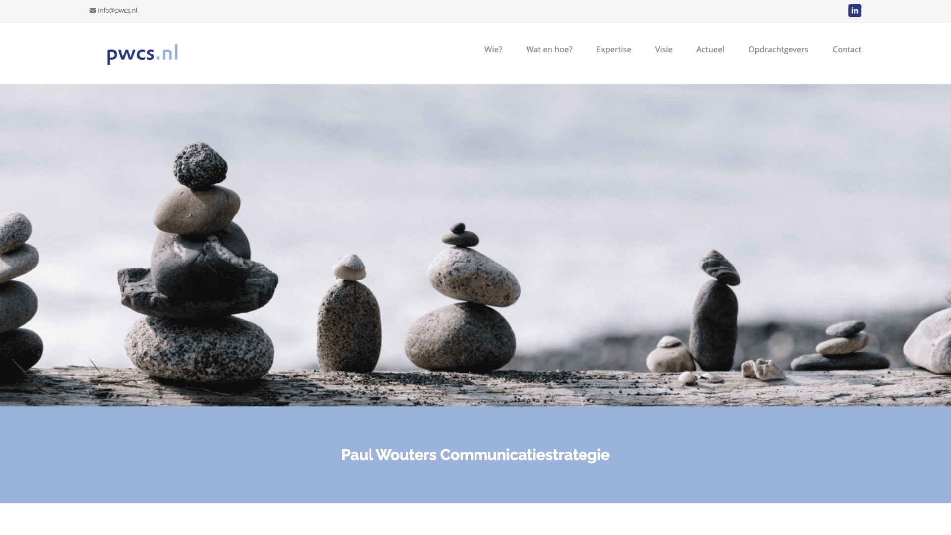 Paul Wouters Communicatiestrategie | Go2People Websites