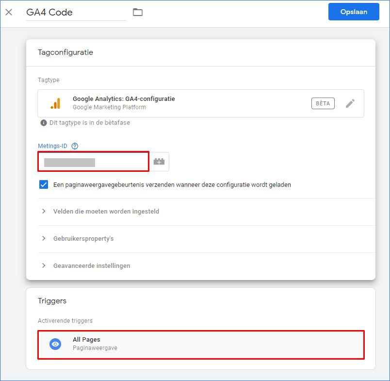 Google Analytics 4.0 11 GTM Tag - Go2People Websites BV