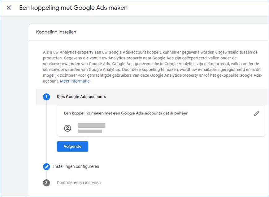 Google Analytics 4.0 15 Google Ads koppeling configureren  - Go2People Websites BV