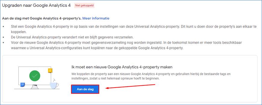 Google Analytics 4.0 7 Property aanmaken  - Go2People Websites BV