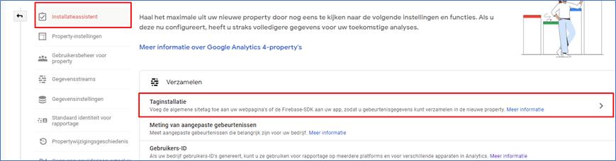 Google Analytics 4.0 8 Installatieassistent - Go2People Websites BV