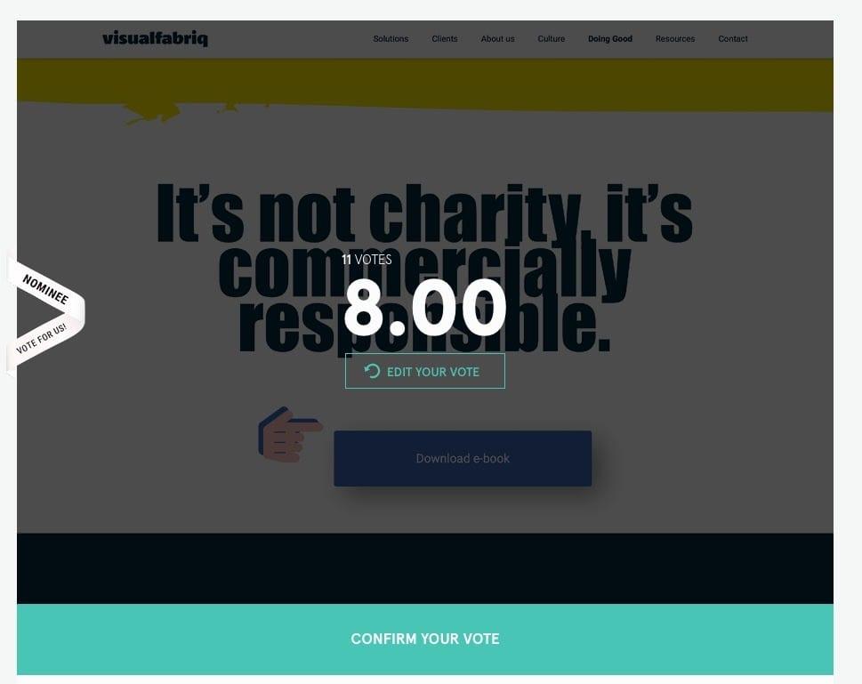 Awwwards button | Go2People Websites