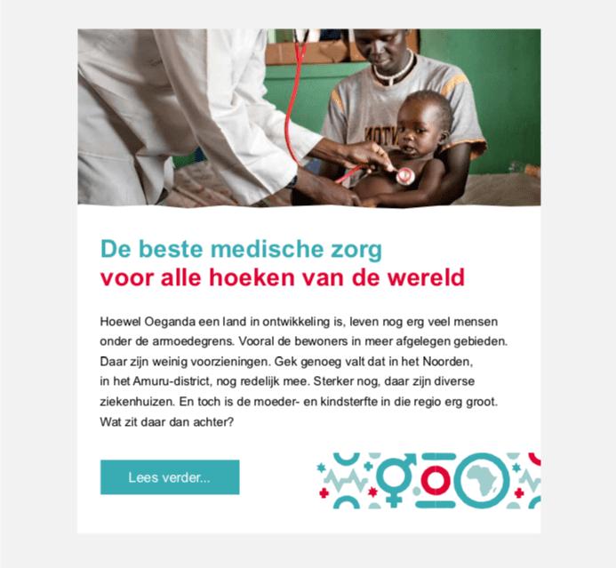 Nieuwsbrief Amref Flying Doctors | Go2People Websites