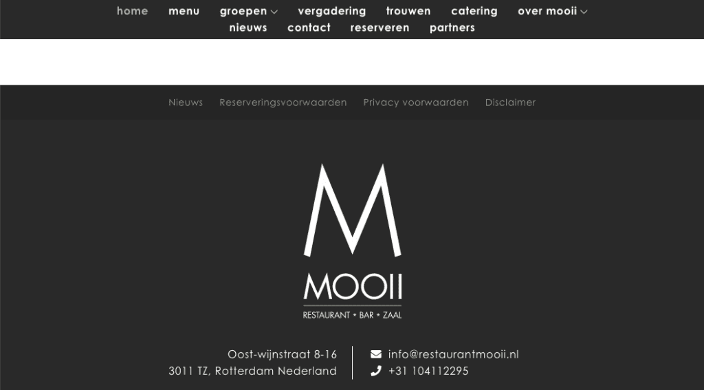 Restaurant Mooi | Go2People Websites