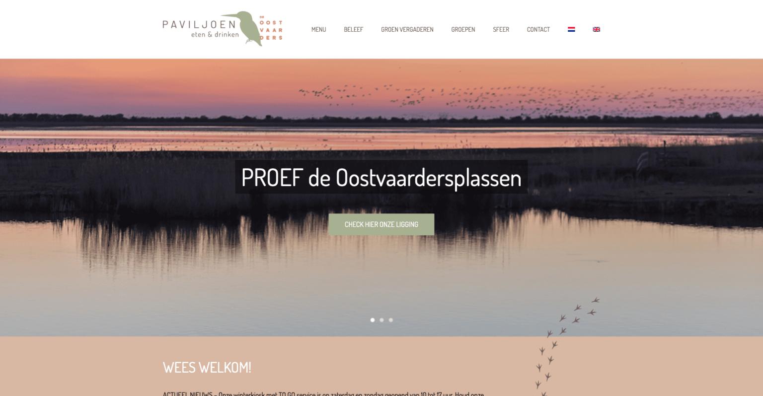 Paviljoen Oostvaarders | Go2People Websites