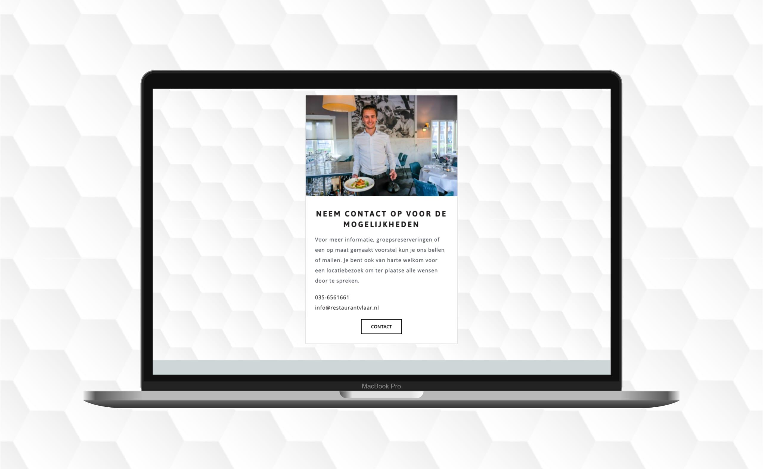 Restaurant Vlaar | Go2People Websites