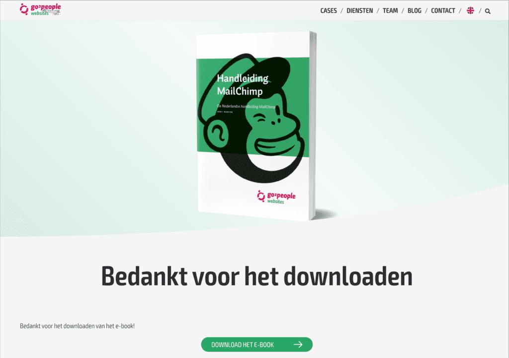 Bedankt voor het downloaden van de Nederlandse Handleiding Mailchimp