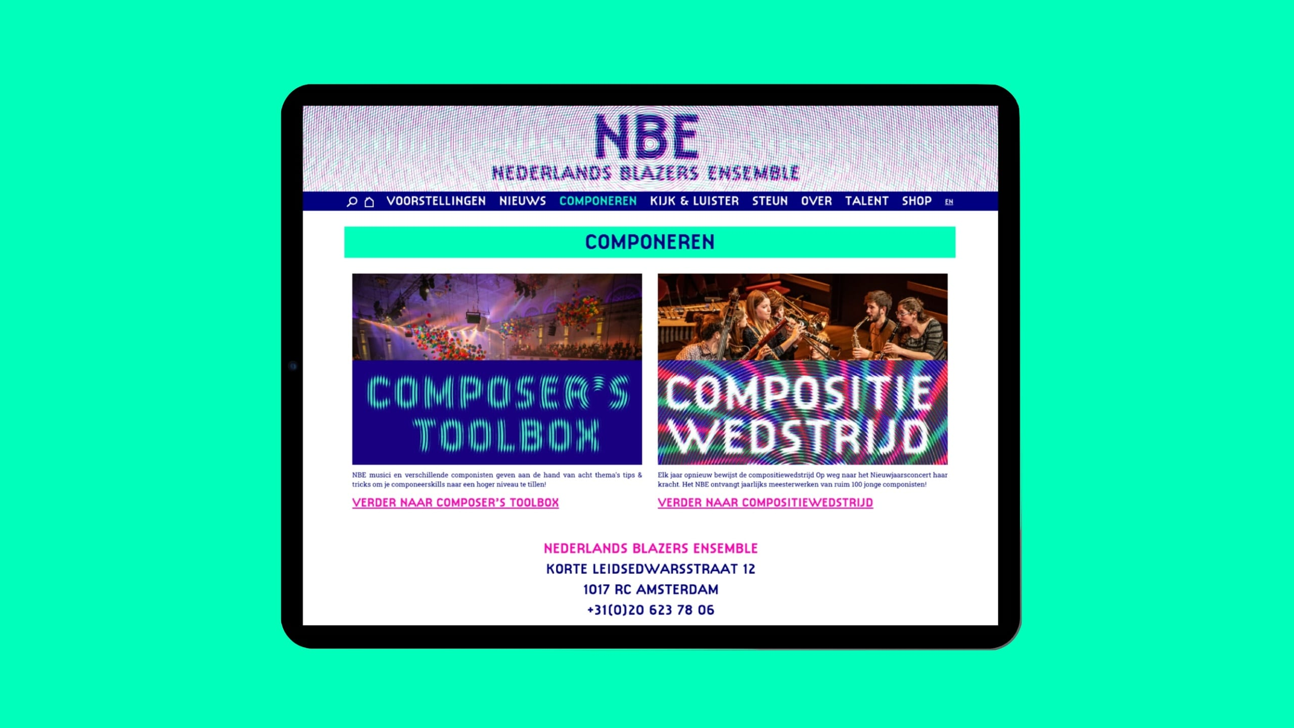 Nederlands Blazers Ensemble Componeren | Go2People Websites